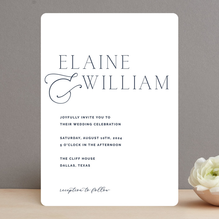 """""""Forever Intertwined"""" - Wedding Invitations in Navy by Lindsay Stetson Thompson."""
