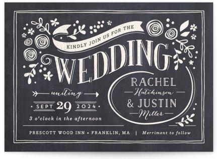 Alabaster Florals Wedding Invitations
