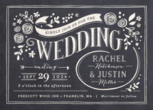 Alabaster Florals Wedding Invitations By Jennifer Wick
