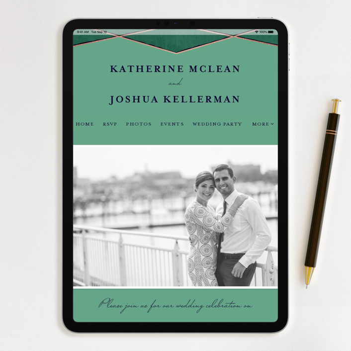 Best Website For Wedding Invitations: Abstract Jewel Wedding Invitations By Rebecca Bowen