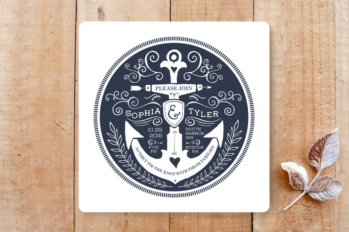 Anchor Tattoo Love Wedding Invitations by Kim Mesman Minted