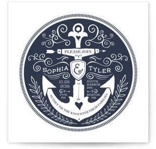 photo of Anchor Tattoo Love Wedding Invitations