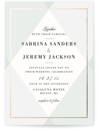photo of Creme Brulee Wedding Invitations