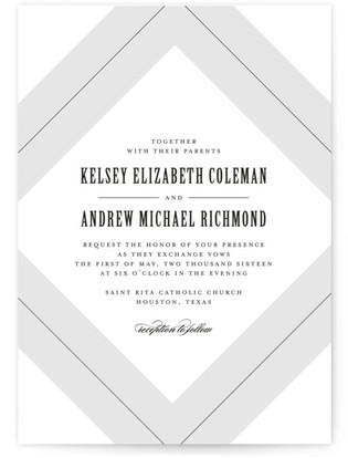photo of Pinstripe Wedding Invitations
