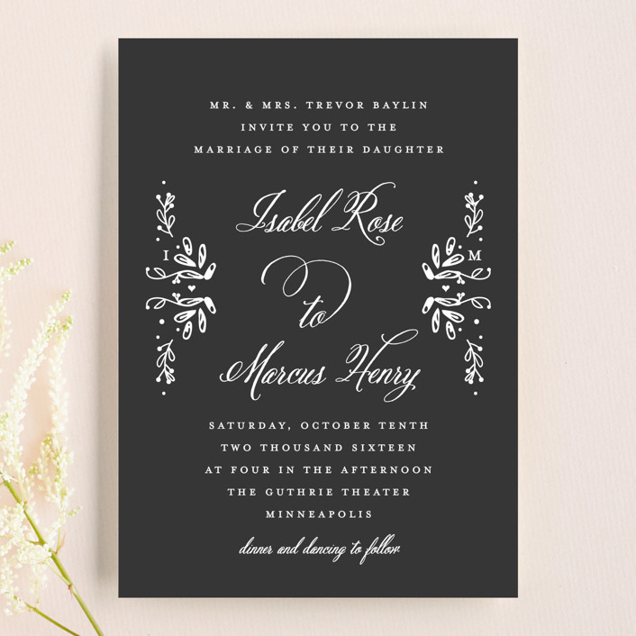 Tiny Initials Wedding Invitations by Susan Brown | Minted