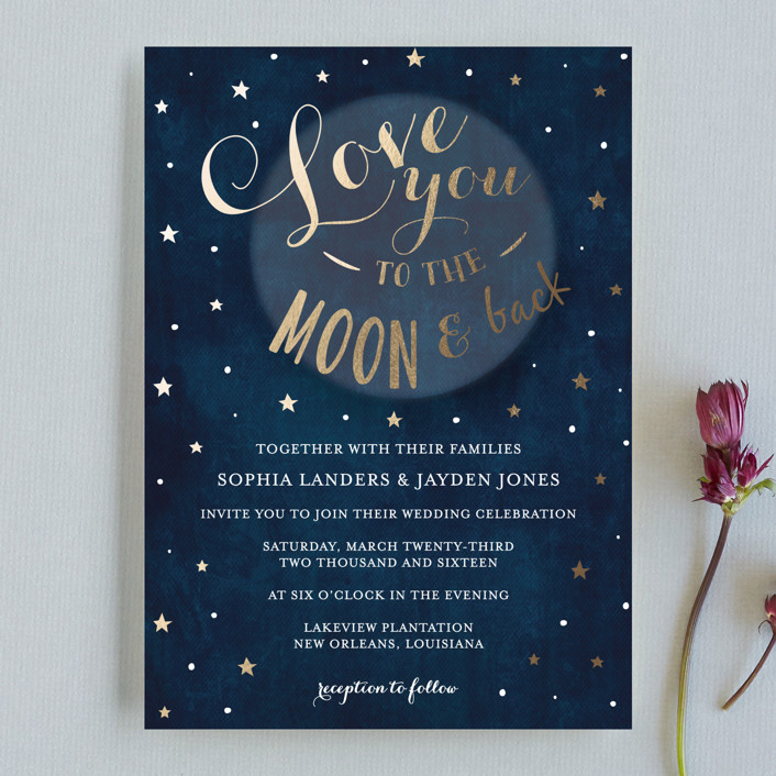 Love you to the Moon and Back Wedding Invitations by Chasity Smith ...