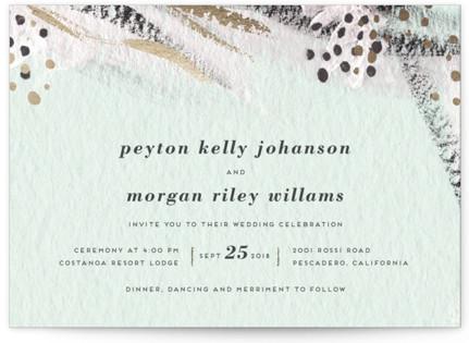 Abstract Union Wedding Invitations