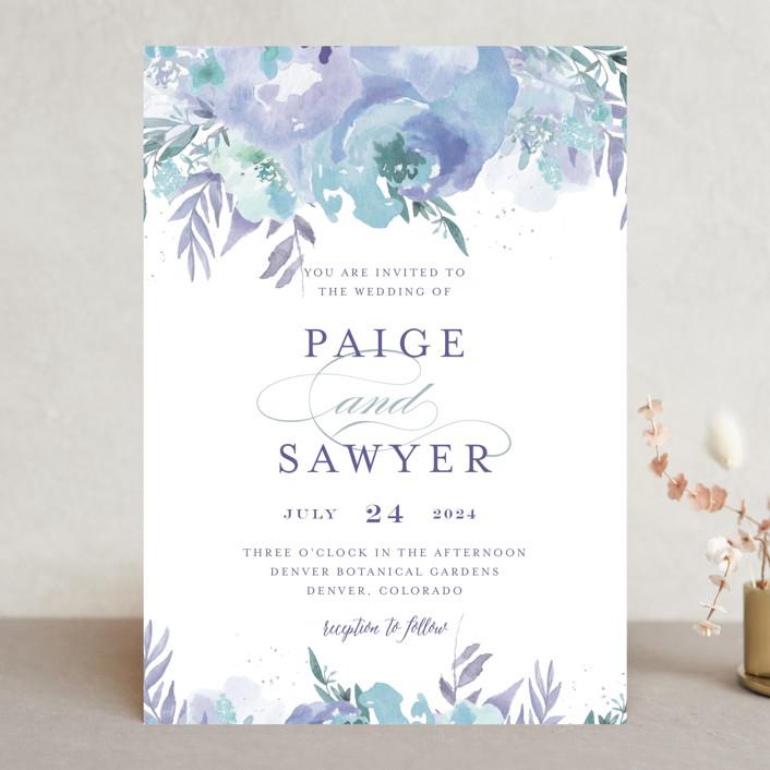 big blooms wedding invitations in dew by grace kreinbrink - Minted Wedding Invites