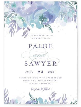 Big Blooms Wedding Invitations