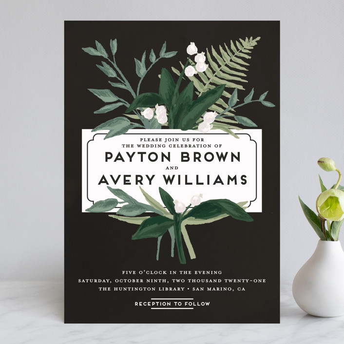 """Botanical Name Plate"" - Wedding Invitations in Sage by Shiny Penny Studio."