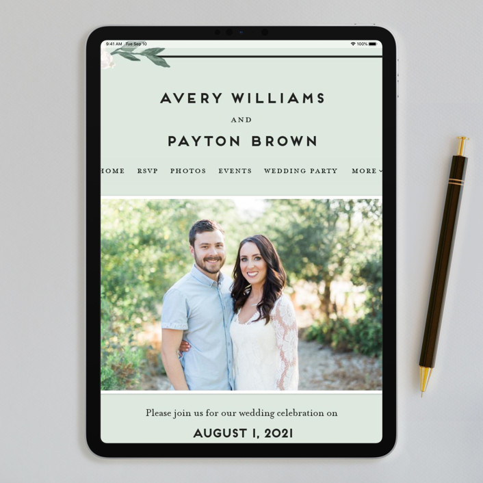 Botanical Name Plate Wedding Invitations by Shiny Penny Studio | Minted