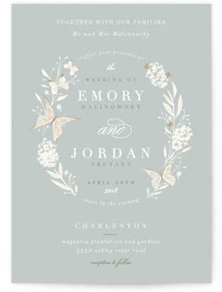 Butterfly Garden Wedding Invitations