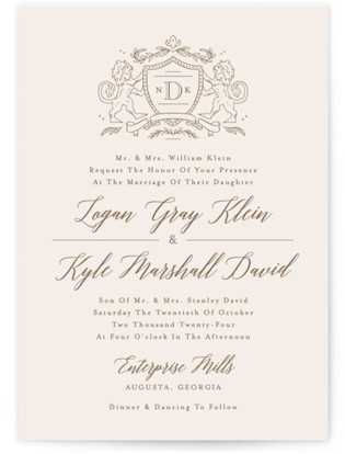 Classic Crest Wedding Invitations