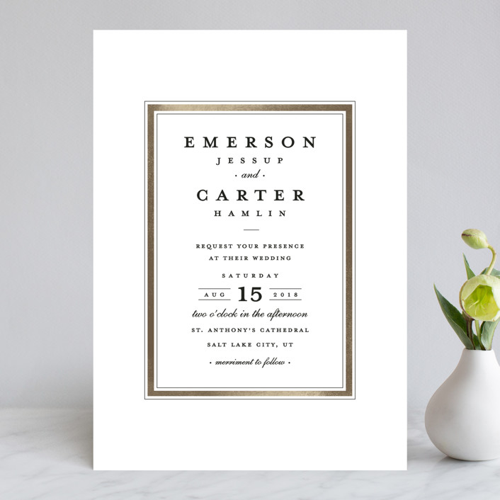 Classic Label Wedding Invitations by Stacey Meacham | Minted