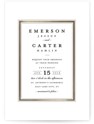 Classic Label Wedding Invitations