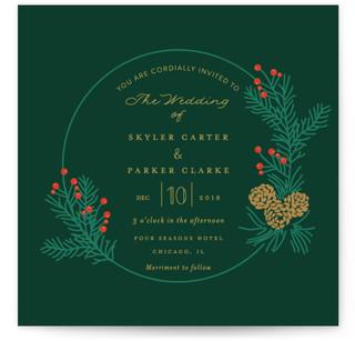 Holiday Wedding Wedding Invitations