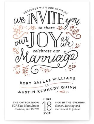 Joyful Wedding Invitations