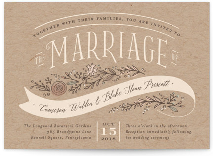 Rustic Banner Wedding Invitations