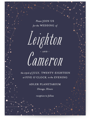 Starlight Wedding Invitations