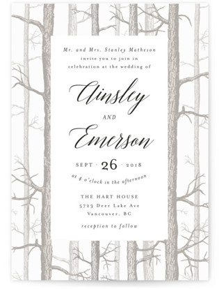 photo of Winter Birch Wedding Invitations