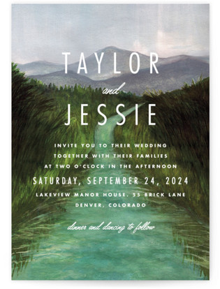 Adventure Begins Wedding Invitations