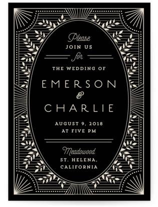 art deco wedding invitation suites | minted,