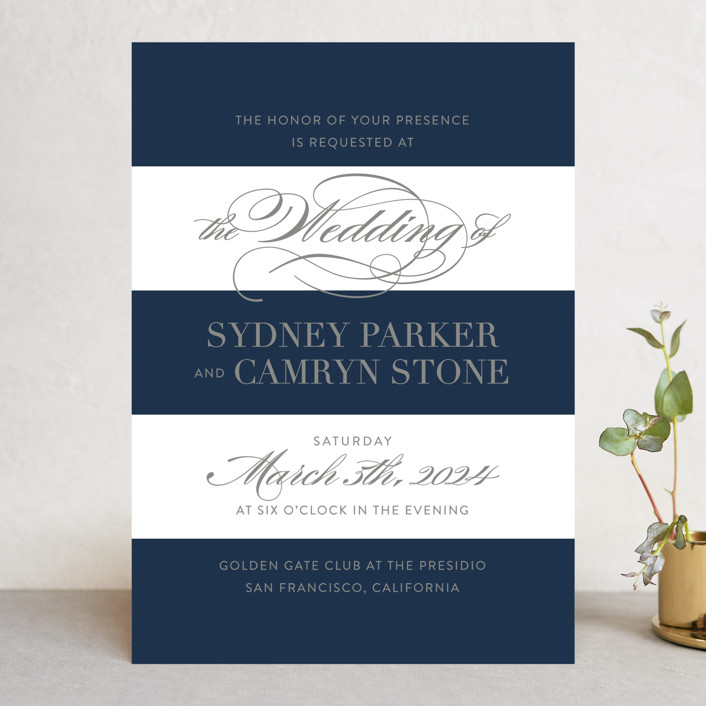 """""""Fashion District"""" - Wedding Invitations in Black Tie by Jill Means."""