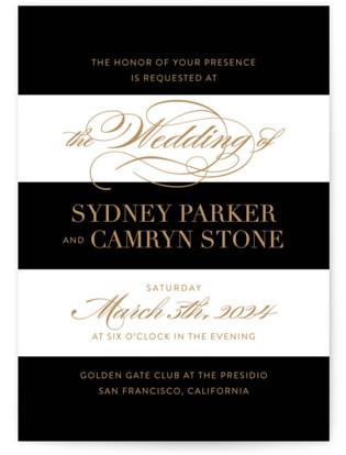 Fashion District Wedding Invitations