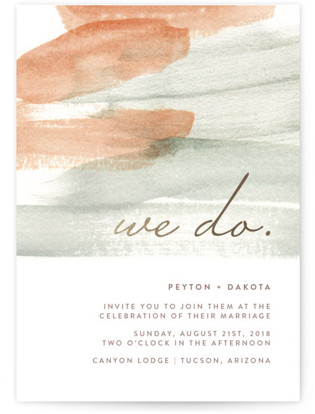 Canyon Wedding Invitations