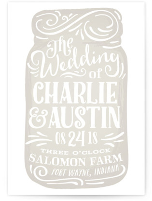 Joyful Jar Wedding Invitations