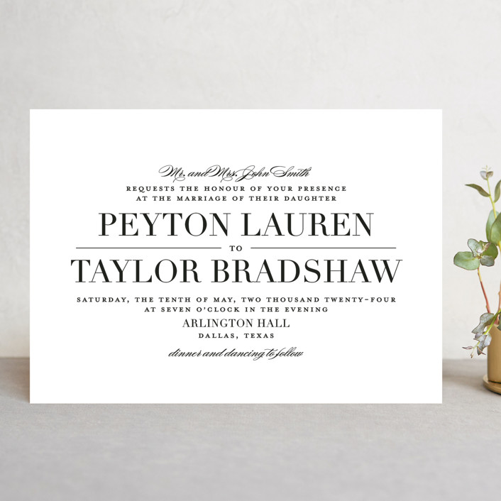 """Classic"" - Wedding Invitations in Tuxedo by Lauren Chism."