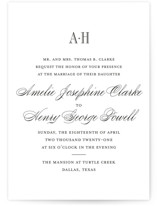 This is a black wedding invitation by Toast & Laurel called Hepburn with standard printing on signature in standard.