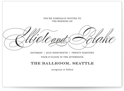 photo of Timeless Elegance Wedding Invitations