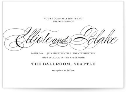 photo of Timeless Elegance Wedding Invitations