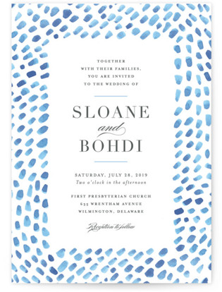 photo of Watercolor Dashes Wedding Invitations