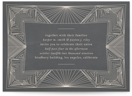 Art Deco Frame Wedding Invitations