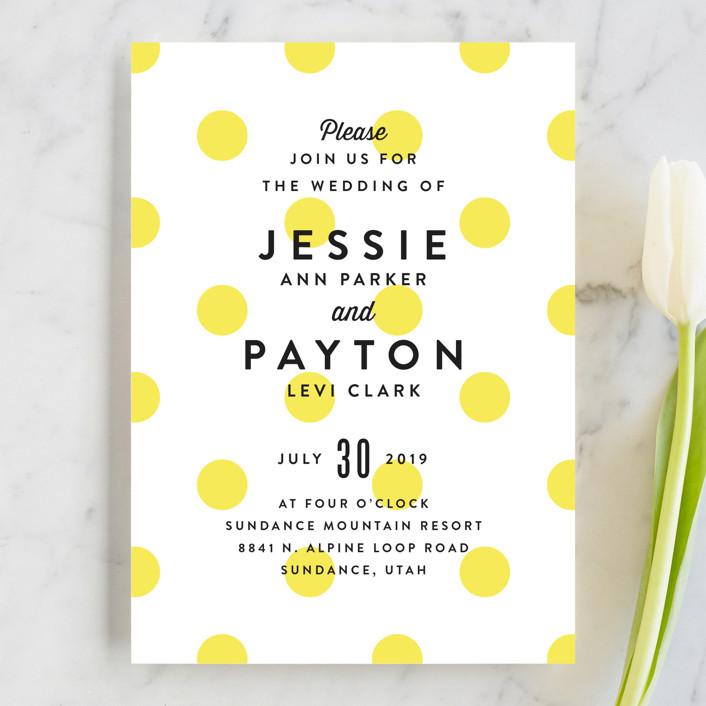 Modern Fun Wedding Invitations by Jill Means Minted
