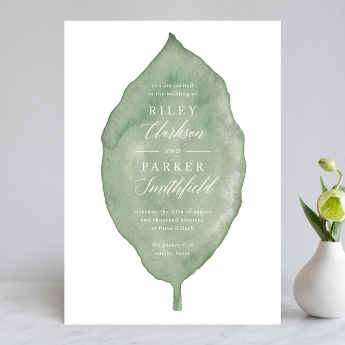Painted Leaf Wedding Invitations In By Katharine Watson