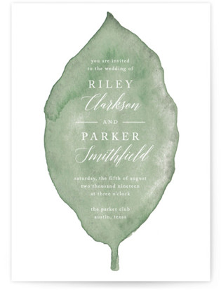 Painted Leaf Wedding Invitations