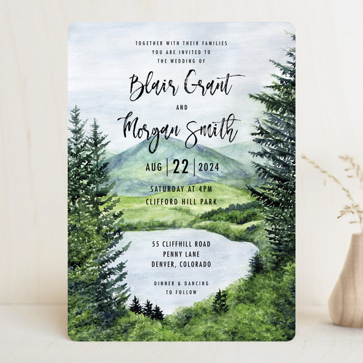 """""""Into the Woods"""" - Wedding Invitations in Forest by Elly."""