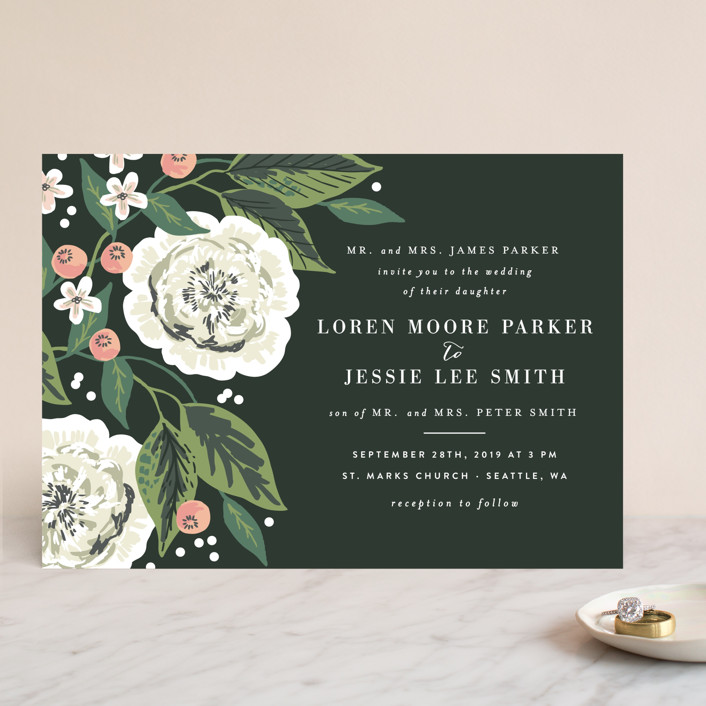 Climbing Rose Wedding Invitations By Alethea And Ruth | Minted