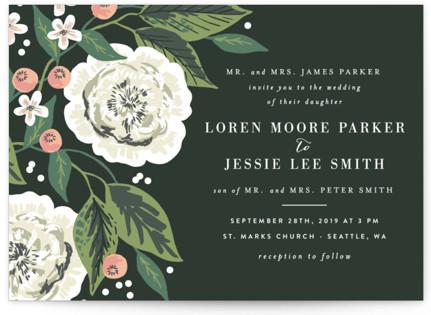 Climbing Rose Wedding Invitations