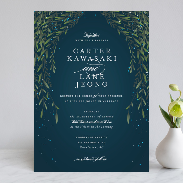 """Dreamkeeper"" - Wedding Invitations in Midnight by Jennifer Postorino."