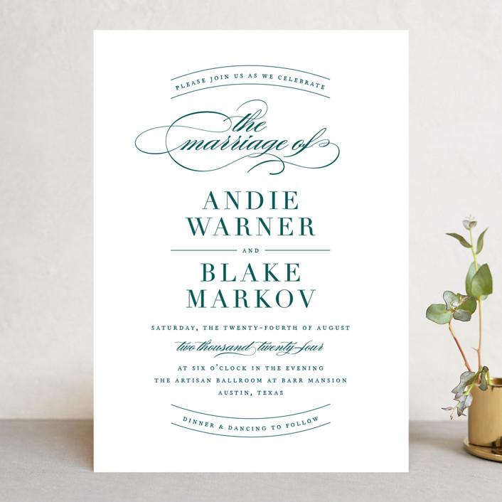 """divine"" - Wedding Invitations in Gilded Gold by Jennifer Postorino."