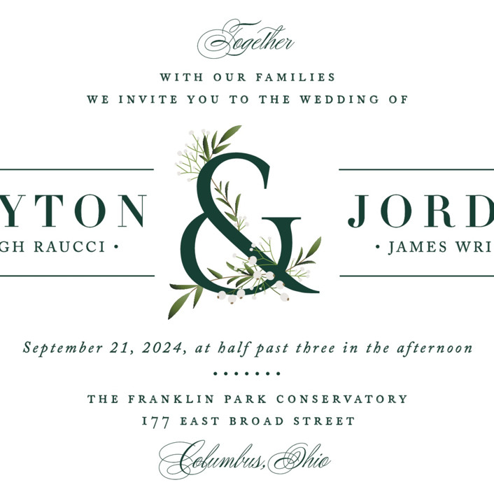 Wedding Invitations Dayton Ohio: Adorned Ampersand Wedding Invitations By Jennifer