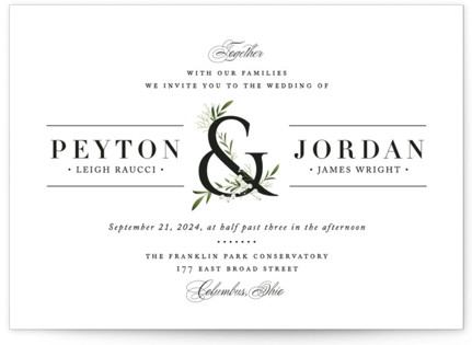 dorned Ampersand Wedding Invitations