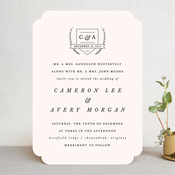 """Astor"" - Wedding Invitations in Blush by carly reed walker."