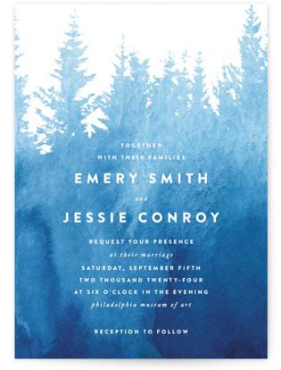 Misty Forest Wedding Invitations