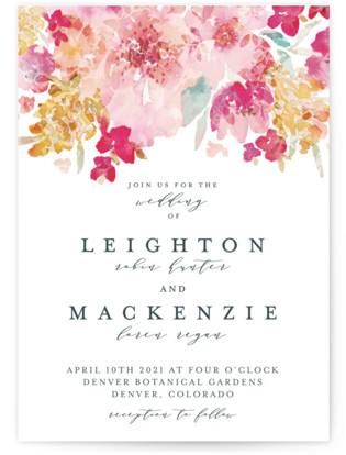 photo of Spring Garden Wedding Invitations