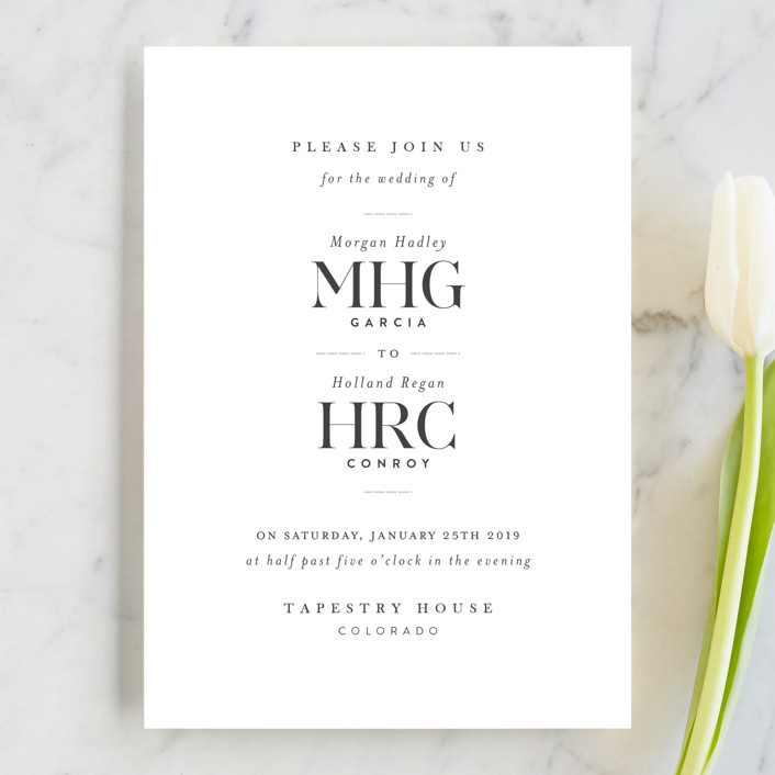 """instilled"" - Wedding Invitations in Pearl by Design Lotus."